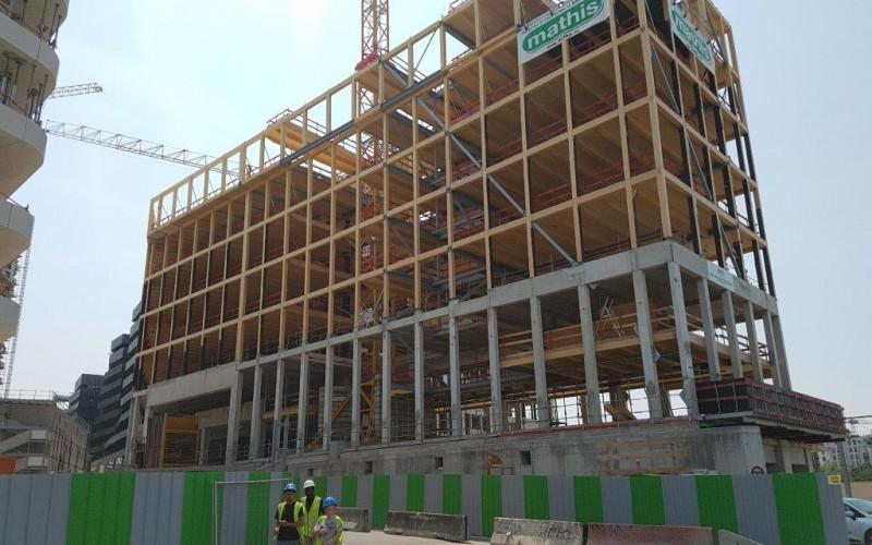 A2- Enjoy : 17 400 m2 de bureaux en bois dans un seul bâtiment R+6